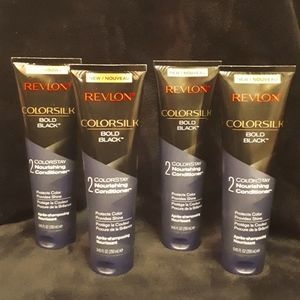 4 Revlon Colorsilk Bold black conditioners